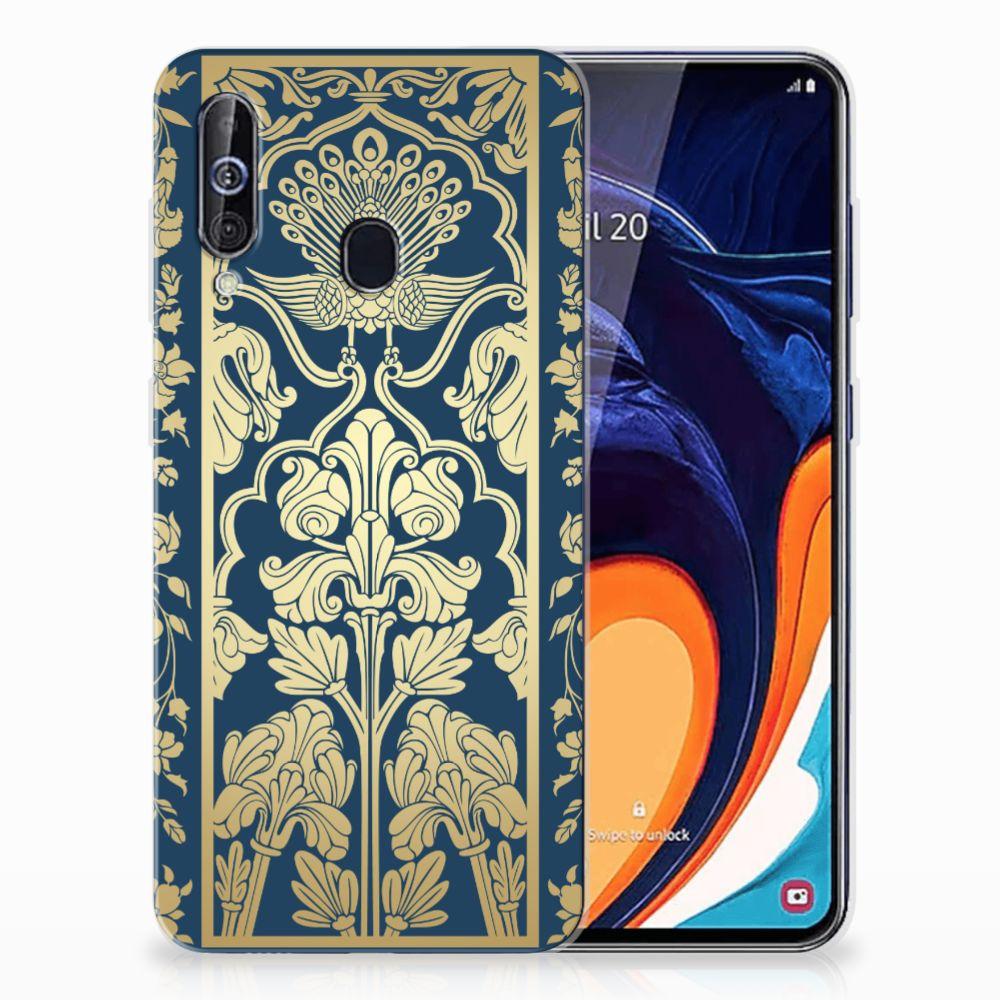 Samsung Galaxy A60 TPU Case Golden Flowers