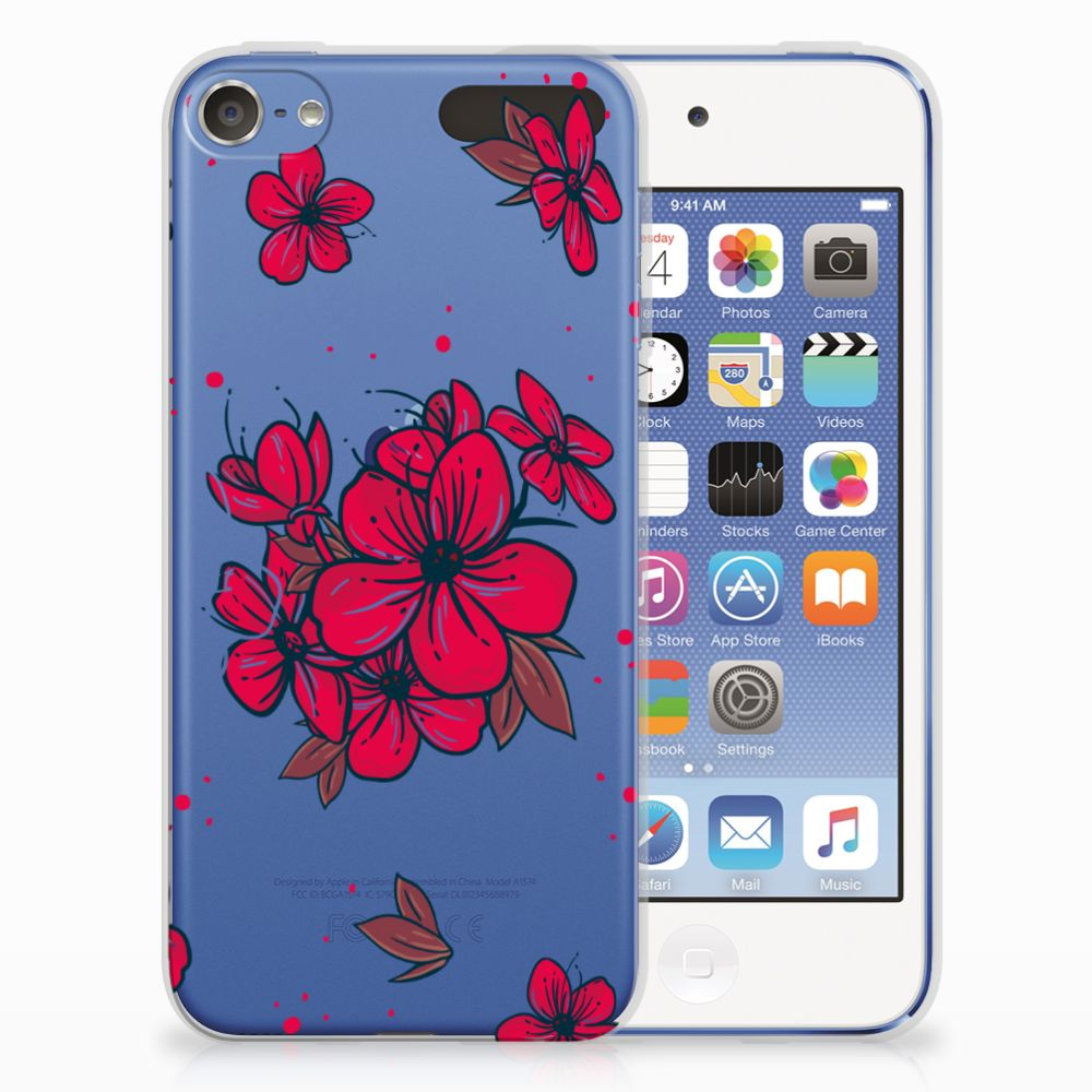 Apple iPod Touch 5 | 6 TPU Hoesje Design Blossom Red