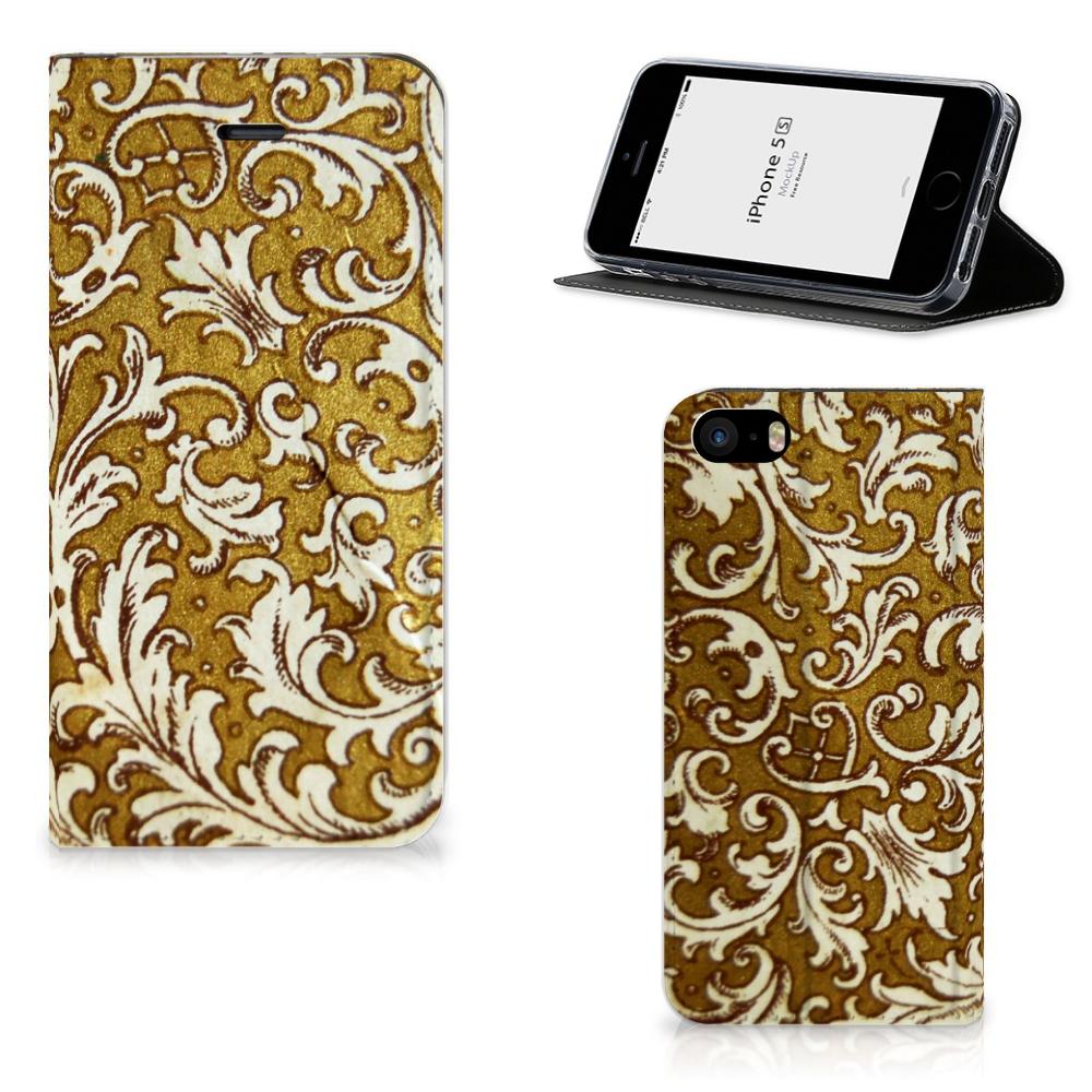 Telefoon Hoesje iPhone SE|5S|5 Barok Goud