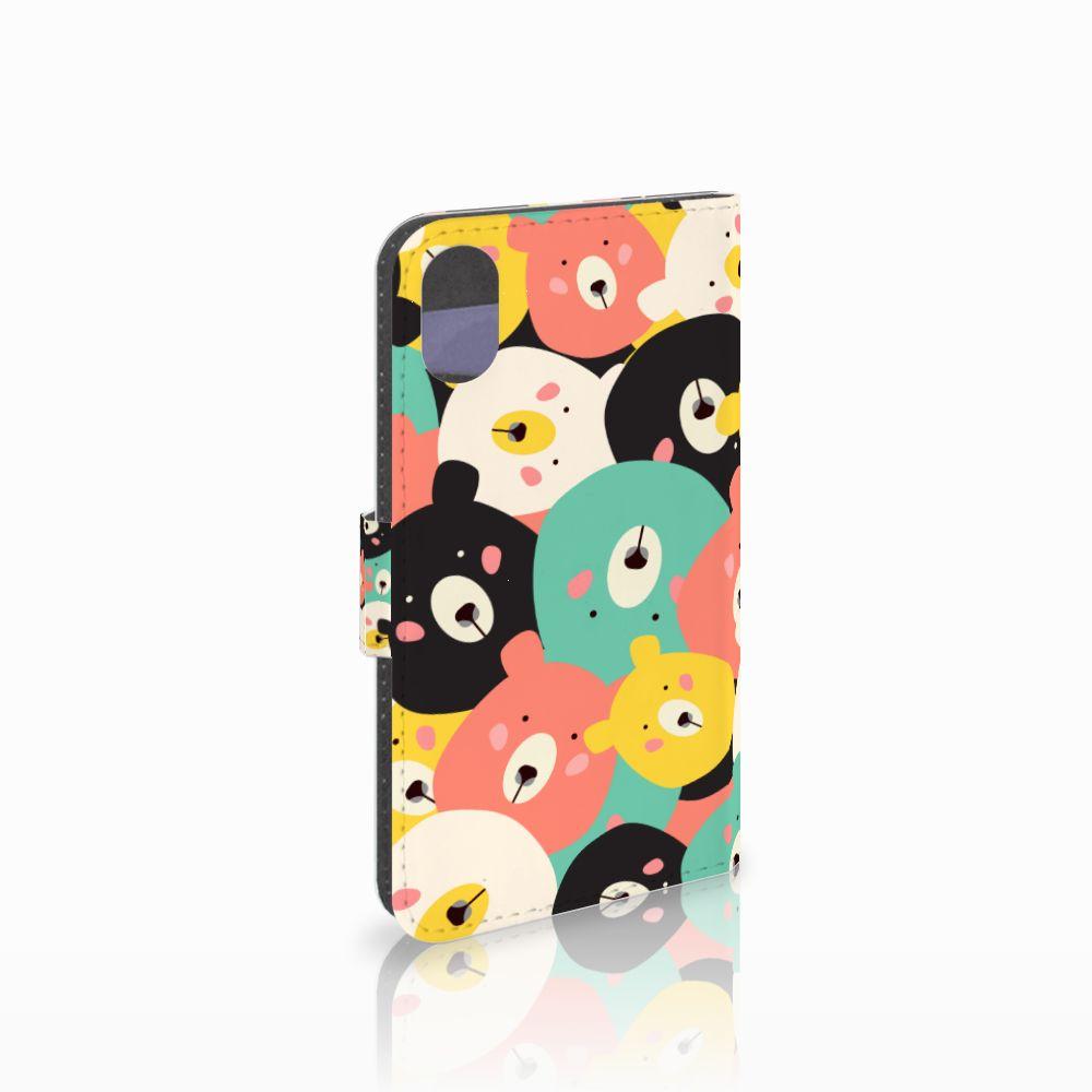 Apple iPhone X | Xs Uniek Boekhoesje Bears