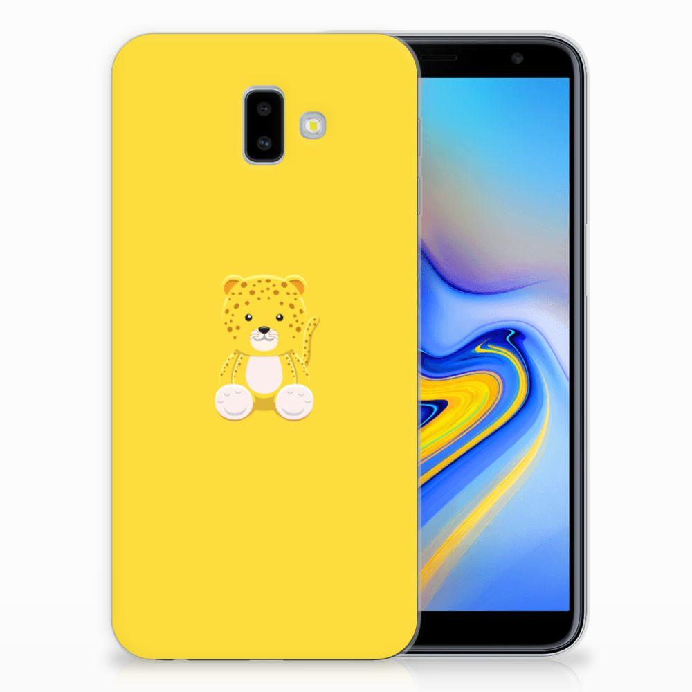 Samsung Galaxy J6 Plus (2018) Telefoonhoesje met Naam Baby Leopard