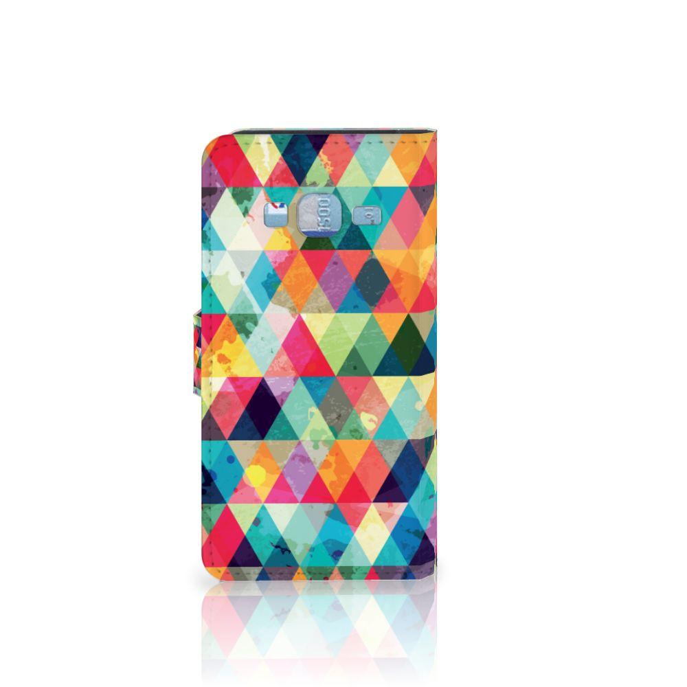 Samsung Galaxy J3 2016 Telefoon Hoesje Geruit