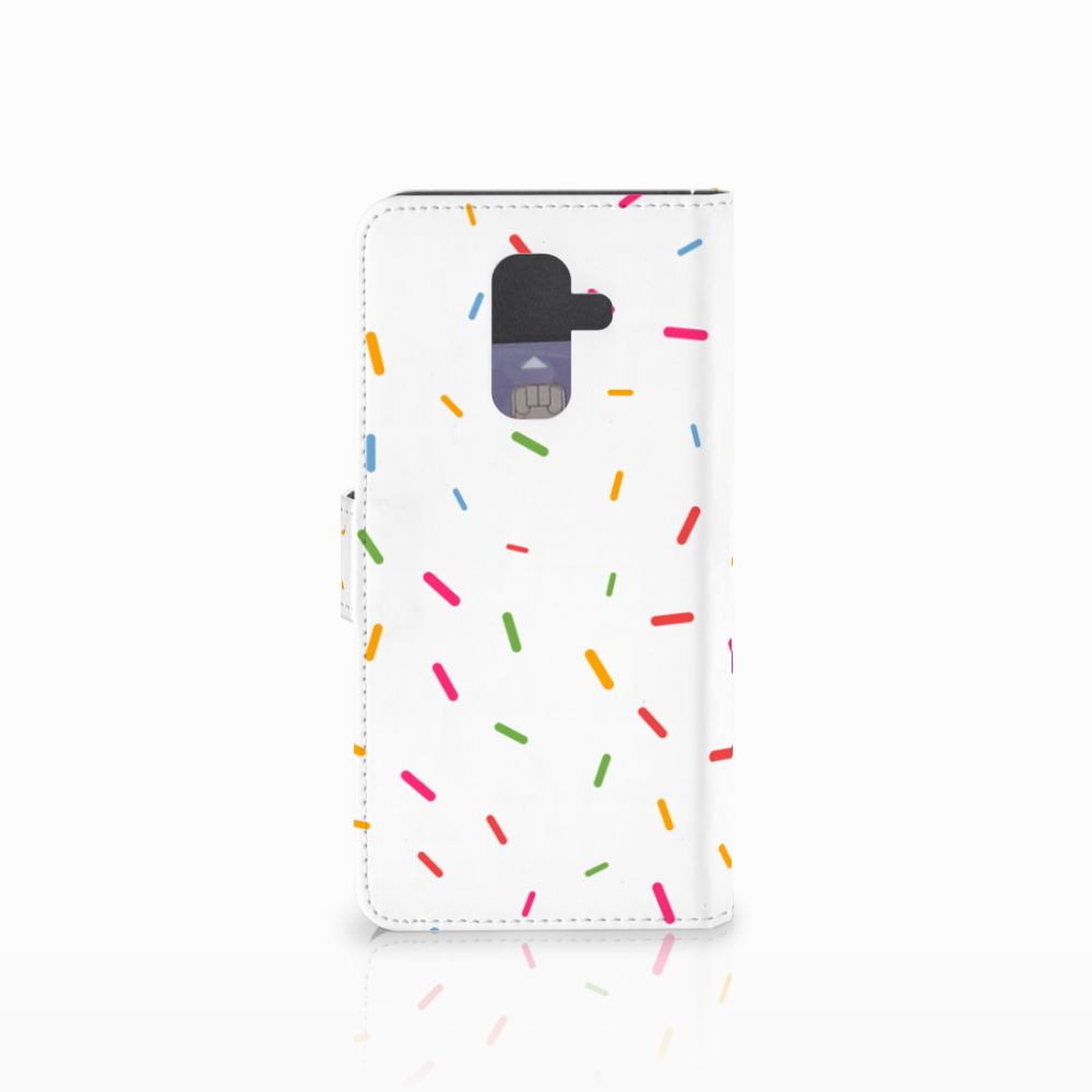 Samsung Galaxy A6 Plus 2018 Book Cover Donut Roze