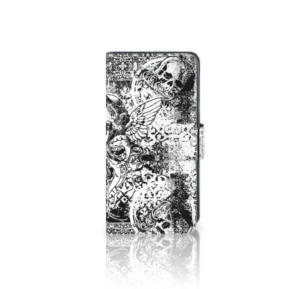 Samsung Galaxy J3 2016 Boekhoesje Design Skulls Angel