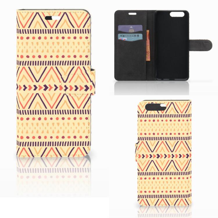 Huawei P10 Plus Telefoon Hoesje Aztec Yellow