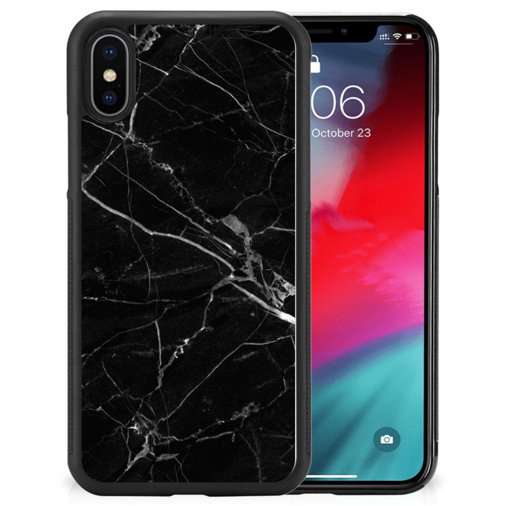 Apple iPhone Xs | X/10 Gripcase Marmer Zwart