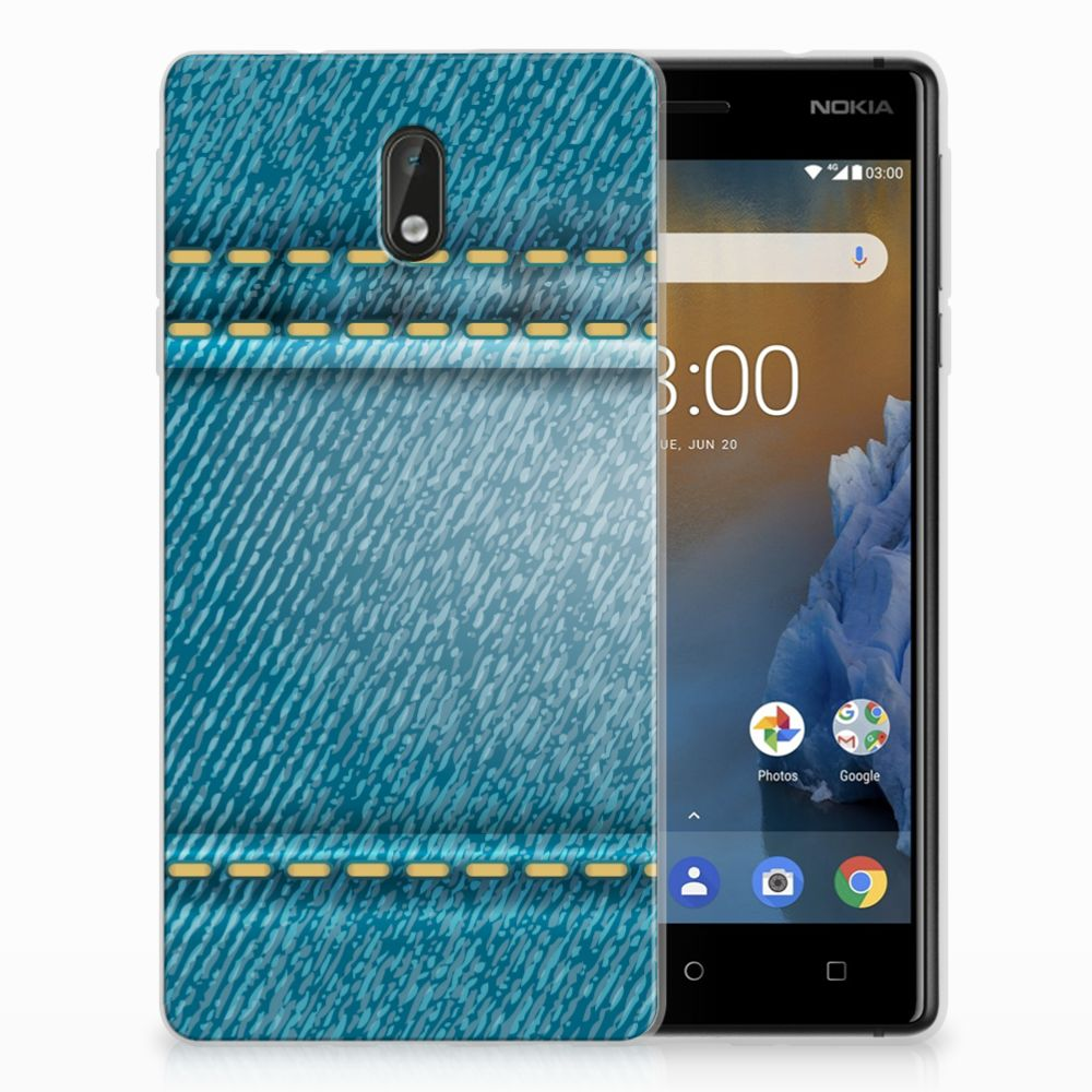 Nokia 3 Silicone Back Cover Jeans