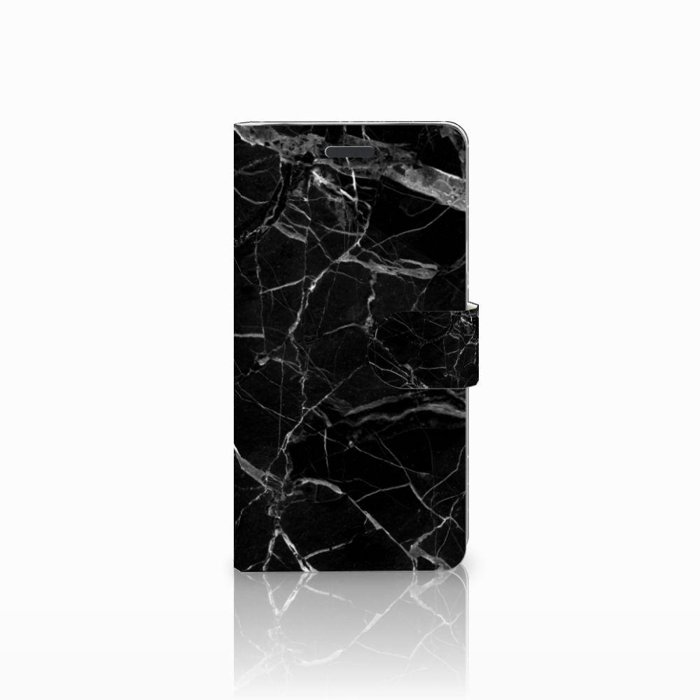 Samsung Galaxy Note 5 Uniek Boekhoesje Marmer Zwart
