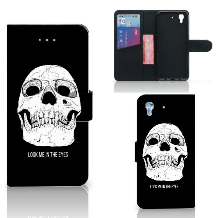 Telefoonhoesje met Naam Honor 4A | Y6 Skull Eyes