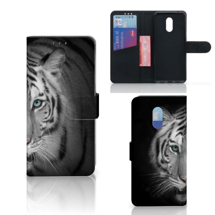 OnePlus 6T Telefoonhoesje met Pasjes Tijger