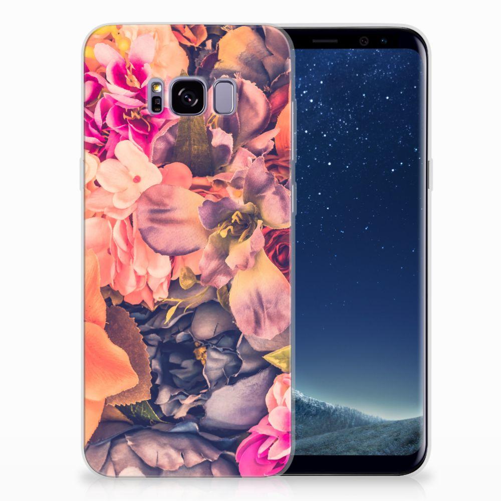 Samsung Galaxy S8 Plus TPU Hoesje Design Bosje Bloemen