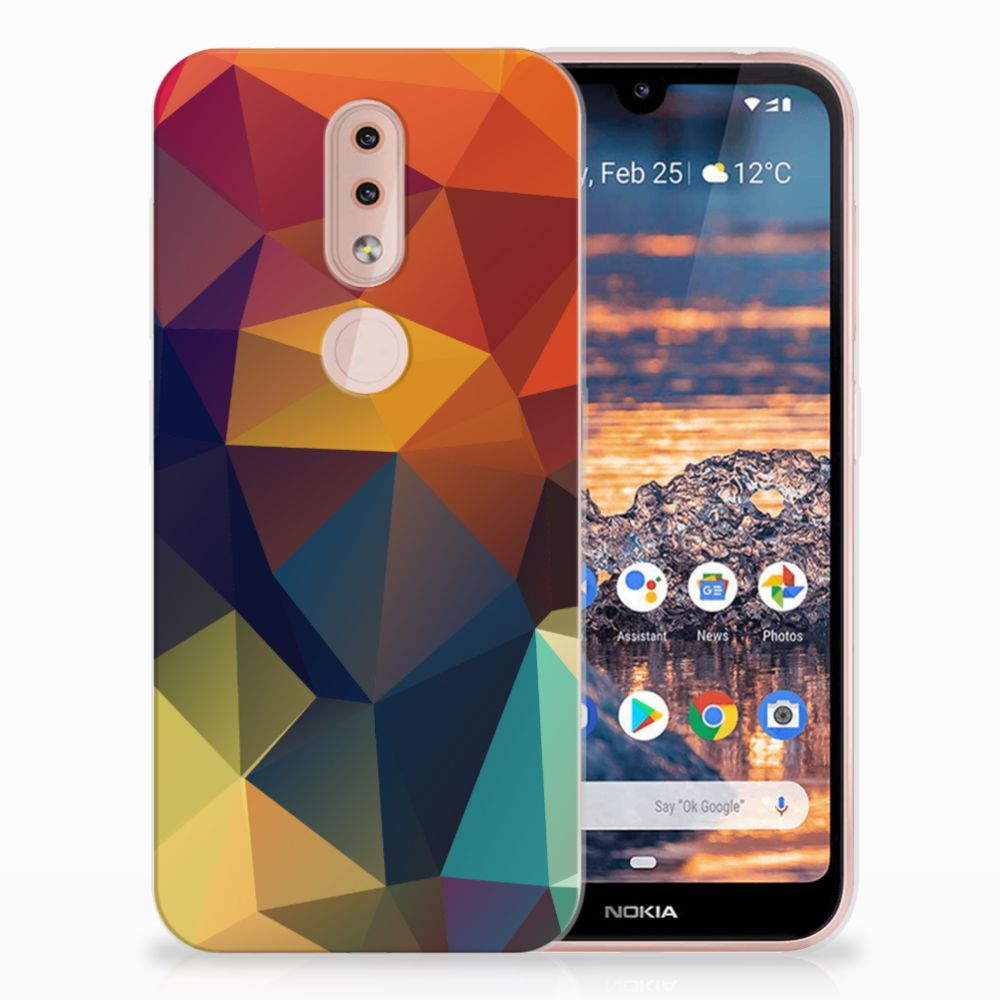 Nokia 4.2 TPU Hoesje Polygon Color