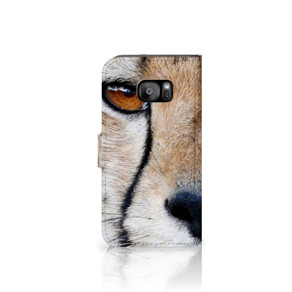 Samsung Galaxy S7 Edge Telefoonhoesje met Pasjes Cheetah