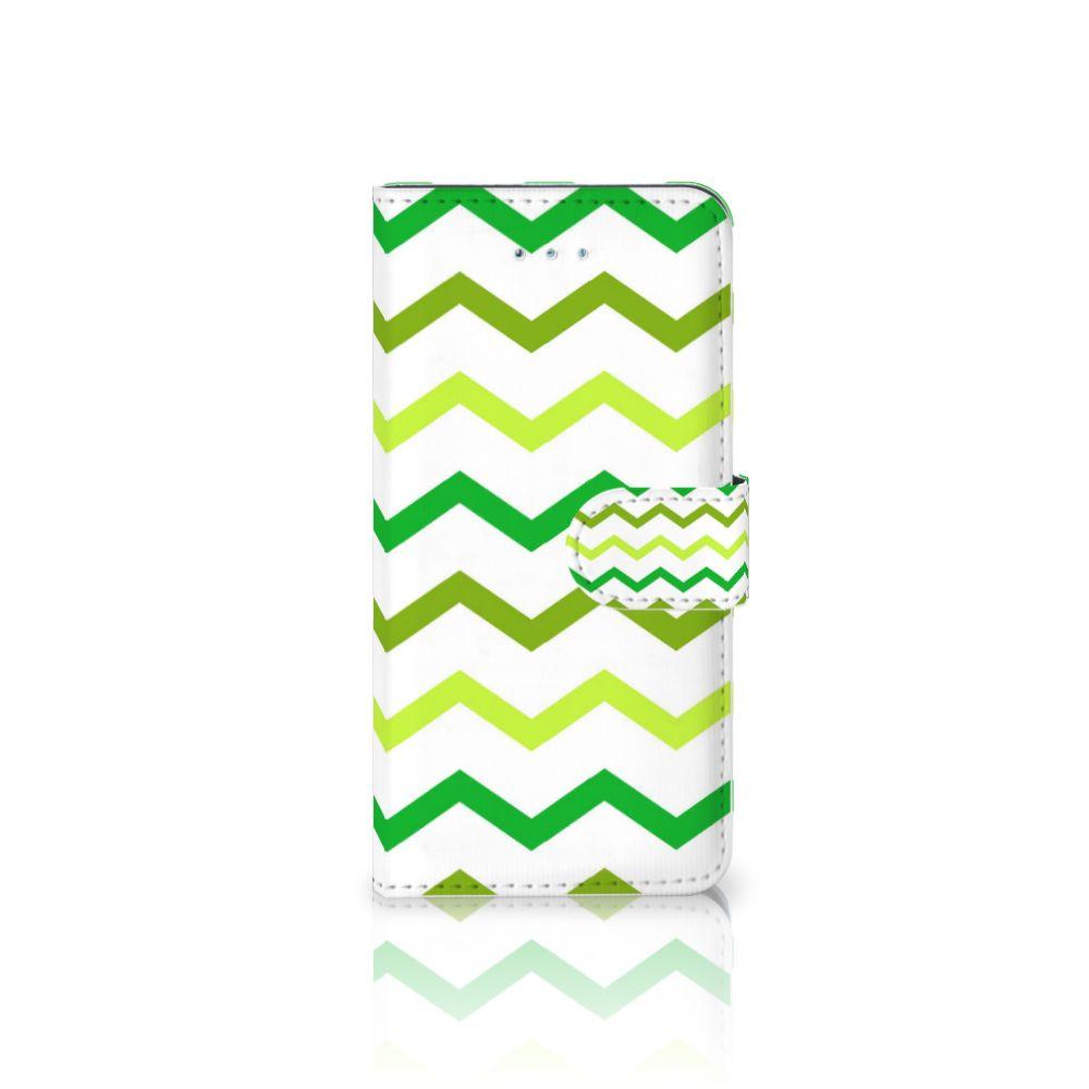 Honor 4A | Y6 Uniek Boekhoesje Zigzag Groen