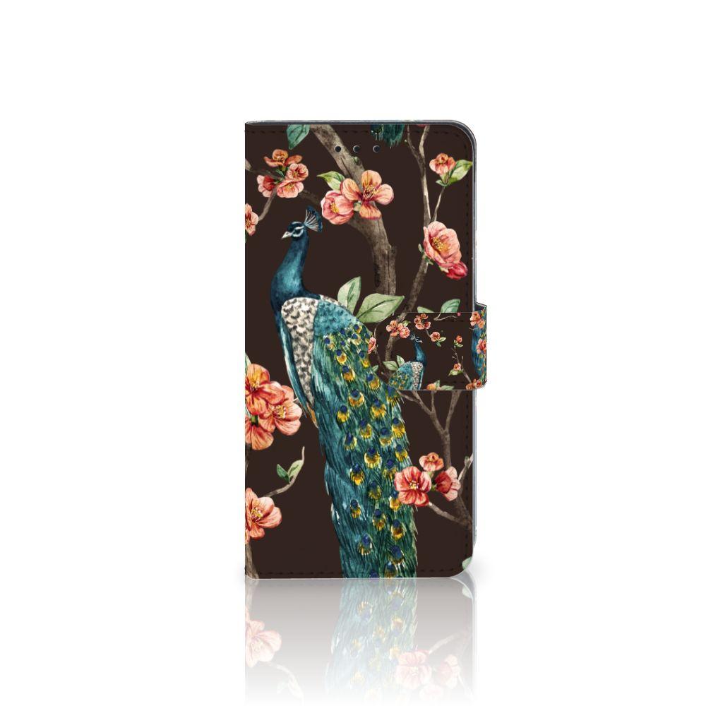 Huawei Mate 10 Pro Boekhoesje Design Pauw met Bloemen