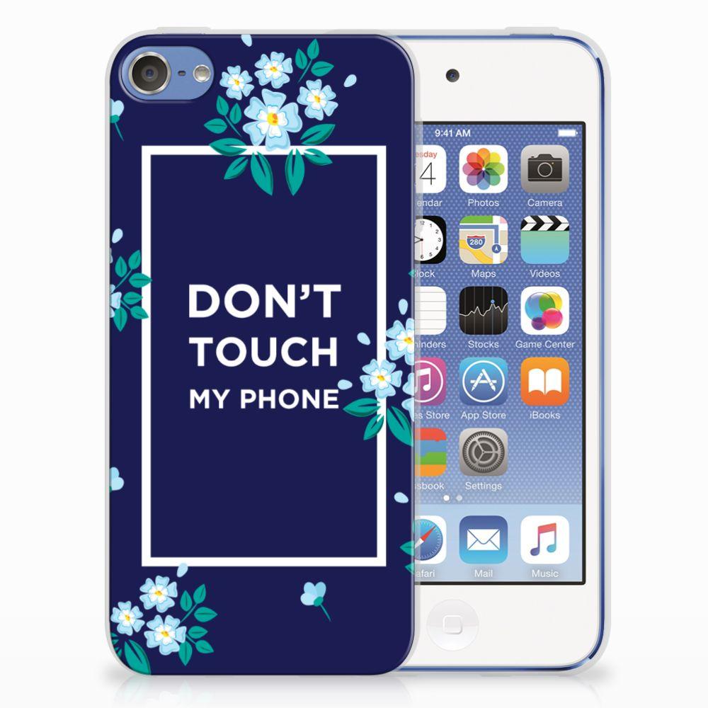 Apple iPod Touch 5 | 6 TPU Hoesje Flowers Blue DTMP