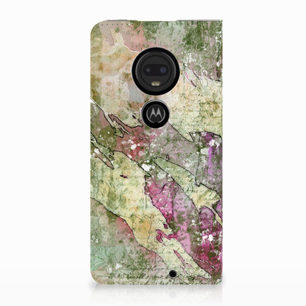 Motorola Moto G7 | G7 Plus Uniek Standcase Hoesje Letter Painting