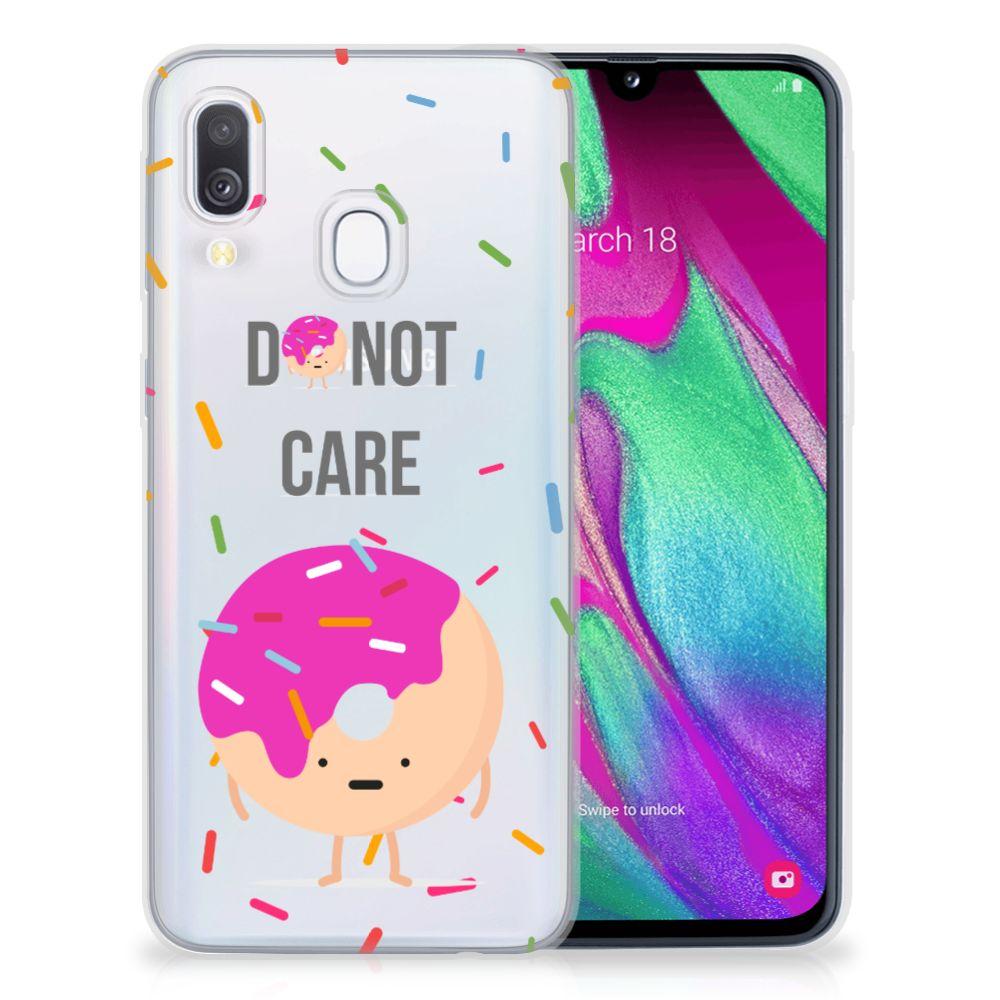 Samsung Galaxy A40 Siliconen Case Donut Roze