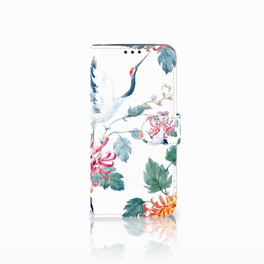 Xiaomi Pocophone F1 Uniek Boekhoesje Bird Flowers