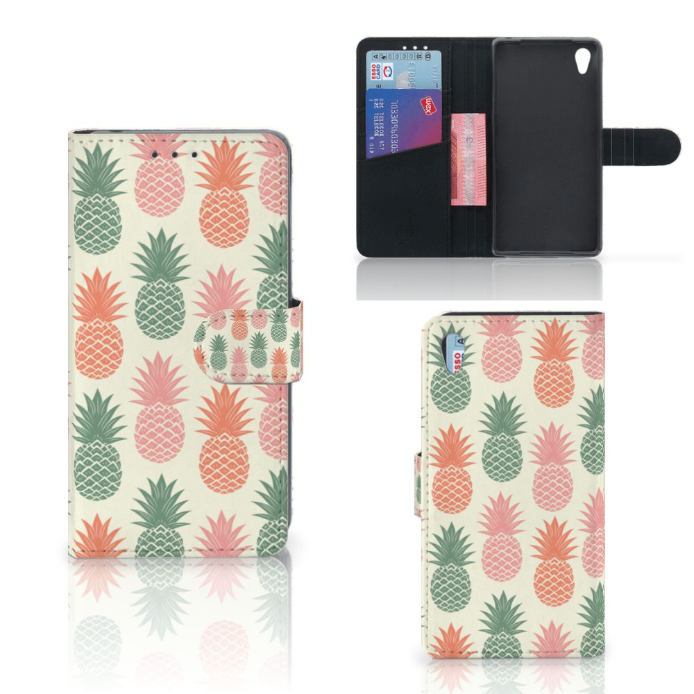 Sony Xperia Z2 Book Cover Ananas