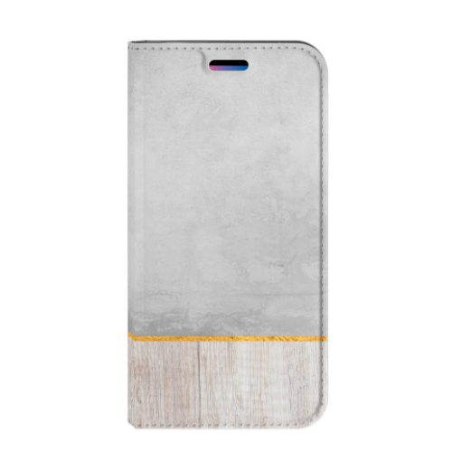 Apple iPhone X | Xs Uniek Standcase Hoesje Wood Concrete