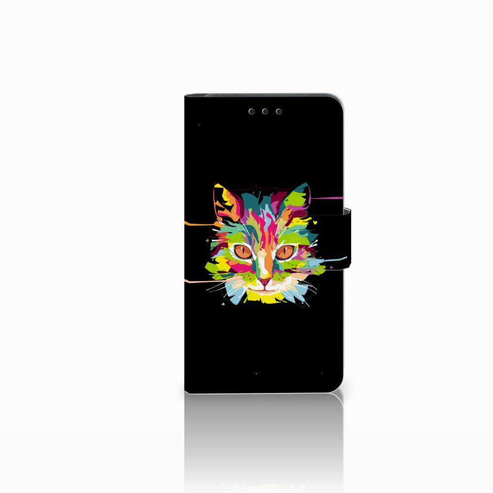 Huawei Y6 Pro 2017 Uniek Boekhoesje Cat Color