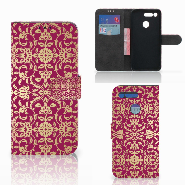 Wallet Case Honor View 20 Barok Pink