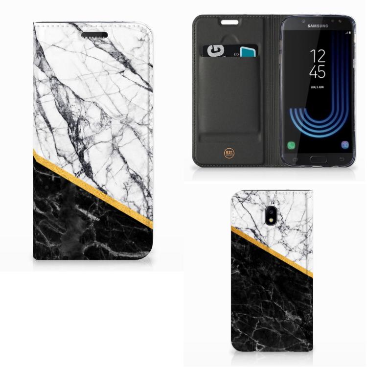 Samsung Galaxy J5 2017 Standcase Marmer Wit Zwart