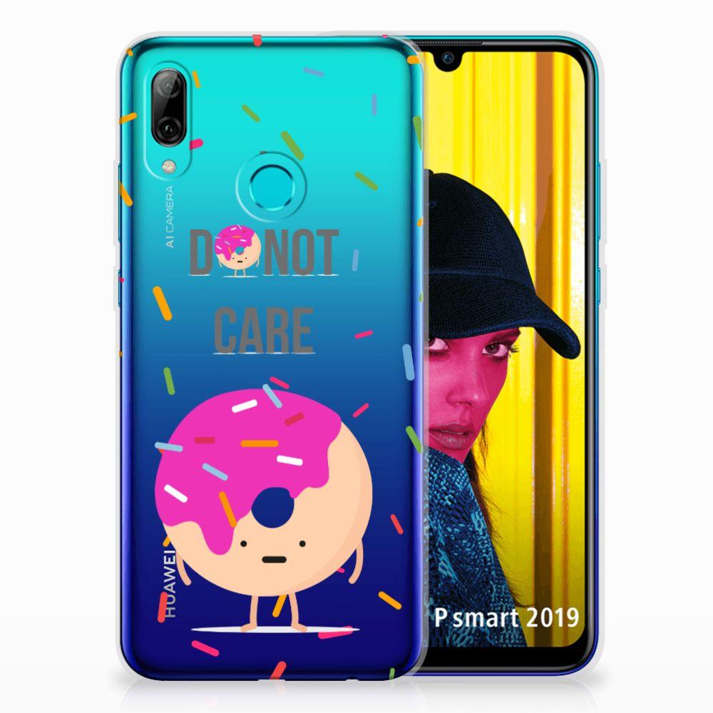 Huawei P Smart 2019 Siliconen Case Donut Roze