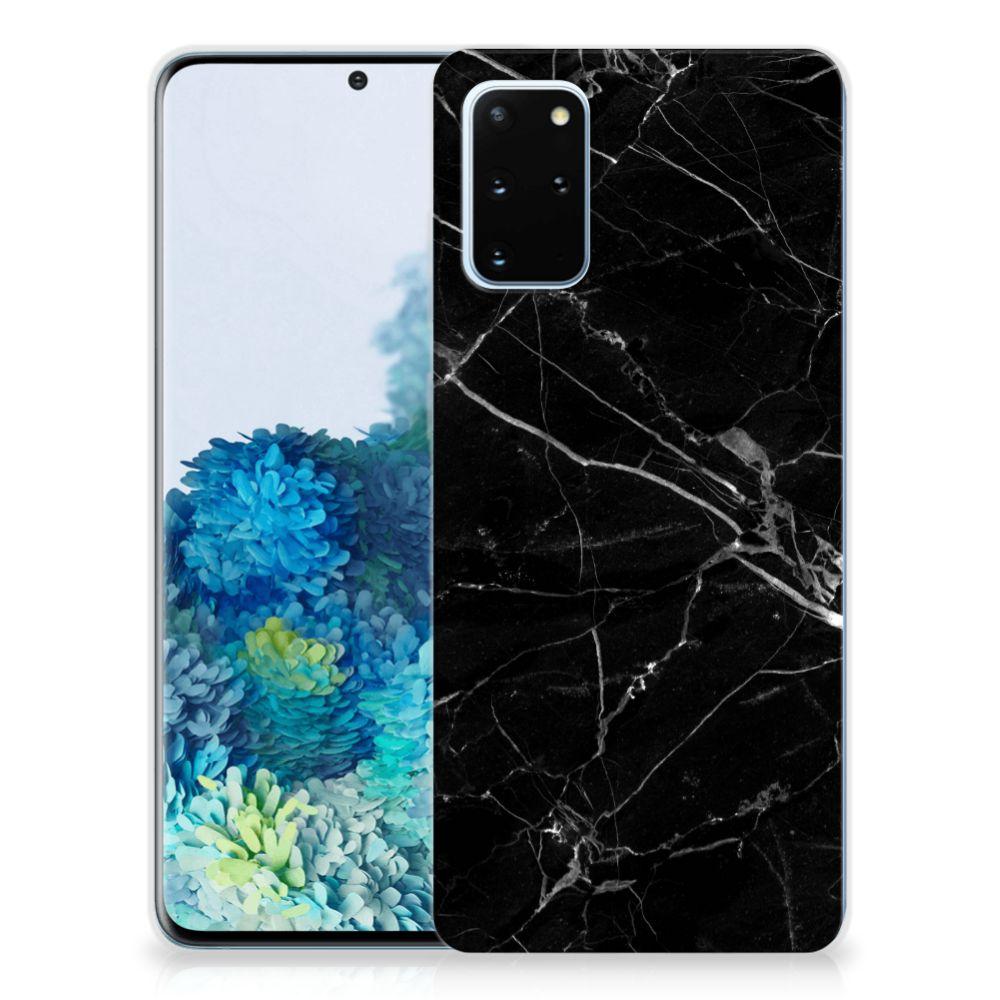 Samsung Galaxy S20 Plus TPU Siliconen Hoesje Marmer Zwart