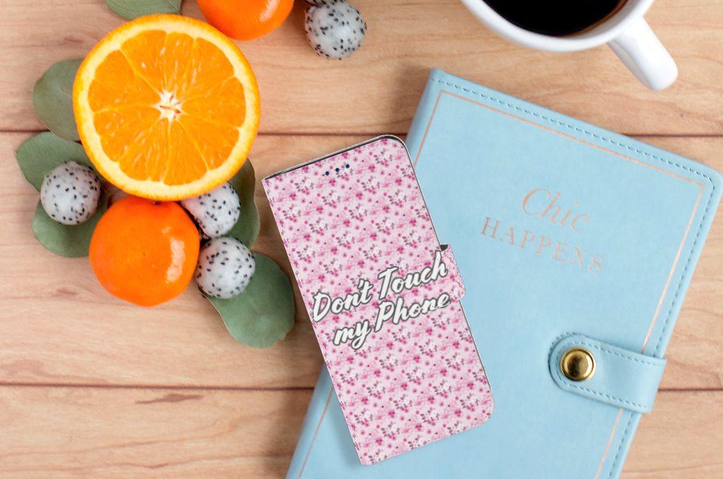Samsung Galaxy S8 Uniek Boekhoesje Flowers Pink DTMP