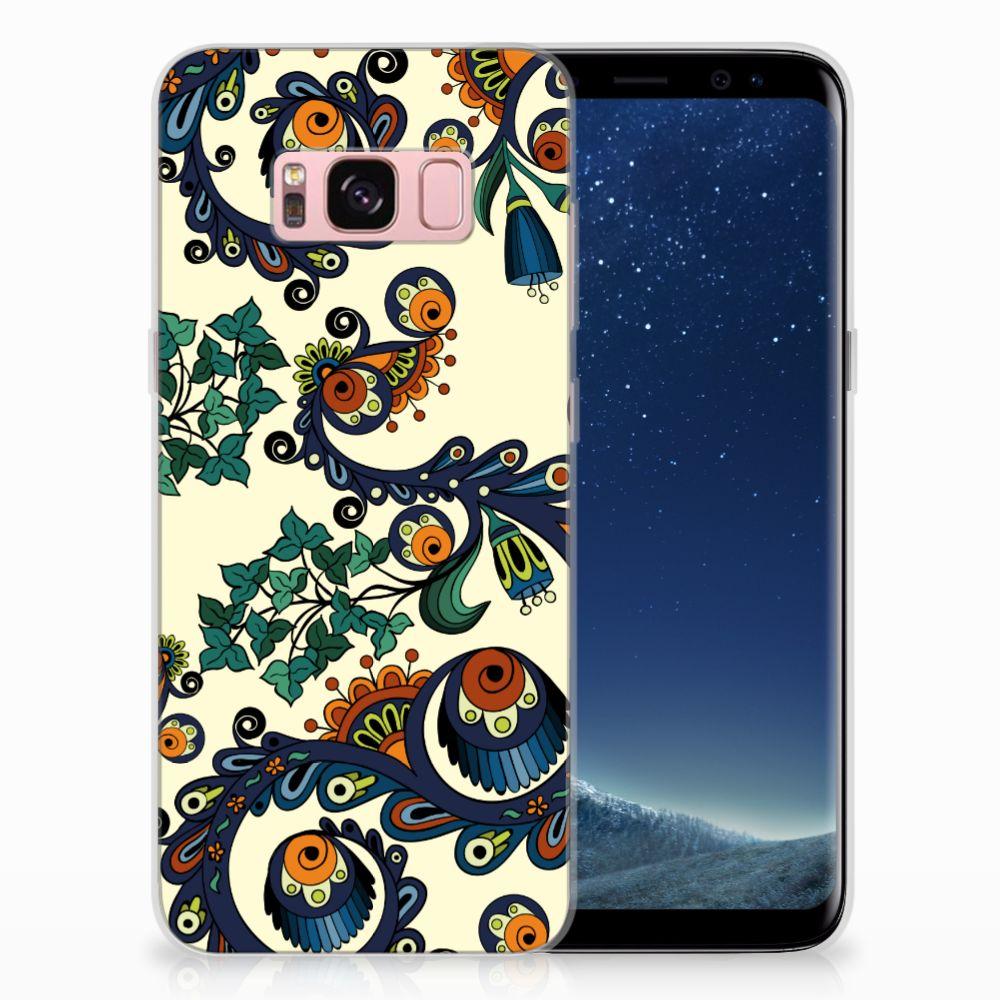 Siliconen Hoesje Samsung Galaxy S8 Barok Flower
