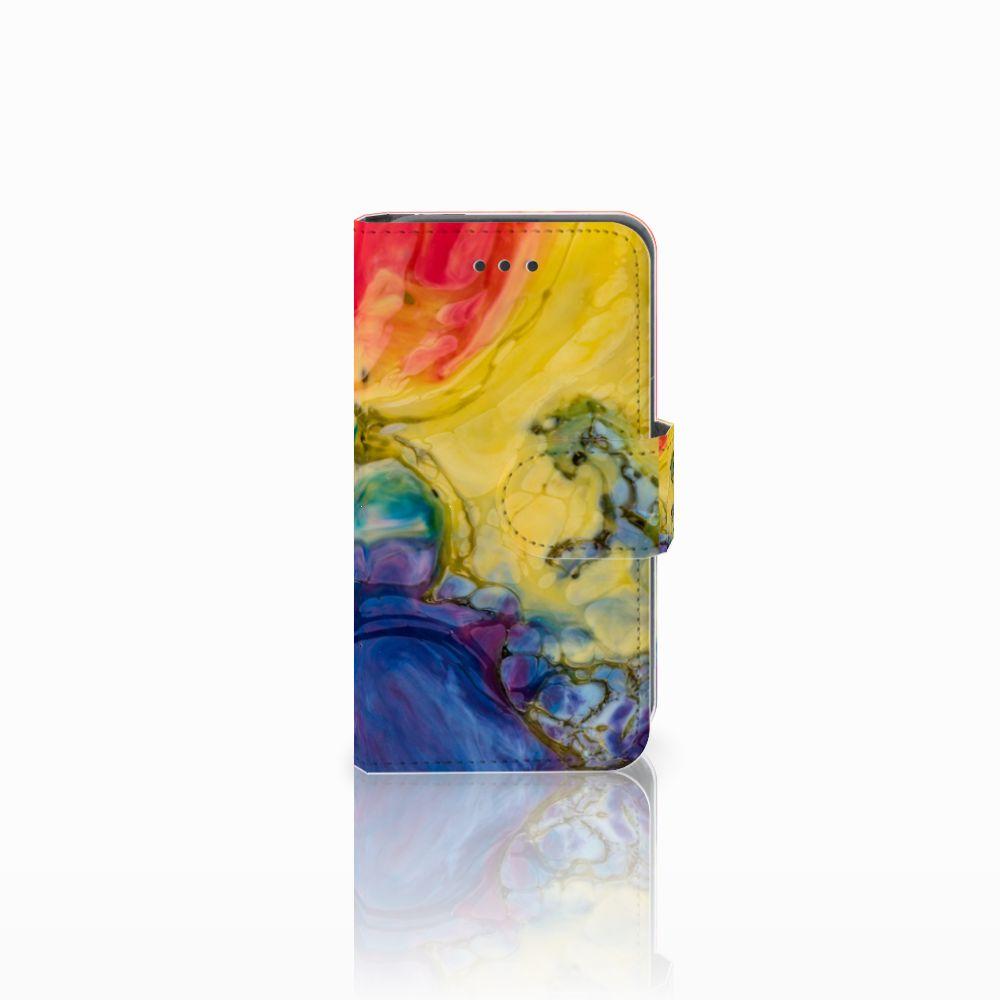 Nokia Lumia 530 Uniek Boekhoesje Watercolor Dark