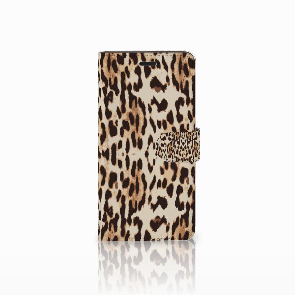 Wiko Pulp Fab 4G Uniek Boekhoesje Leopard