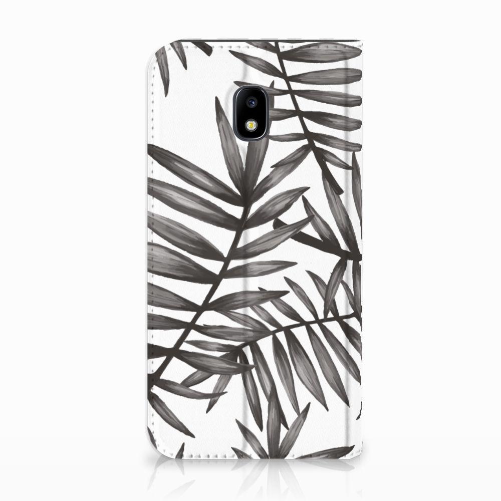 Samsung Galaxy J3 2017 Uniek Standcase Hoesje Leaves Grey