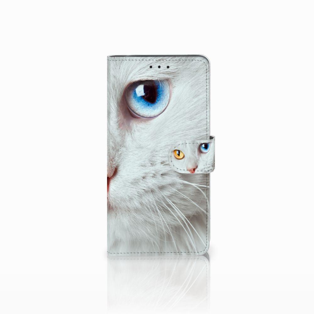 Samsung Galaxy J6 Plus (2018) Uniek Boekhoesje Witte Kat