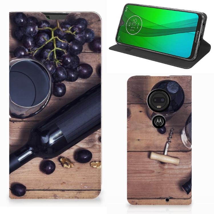Motorola Moto G7 | G7 Plus Flip Style Cover Wijn