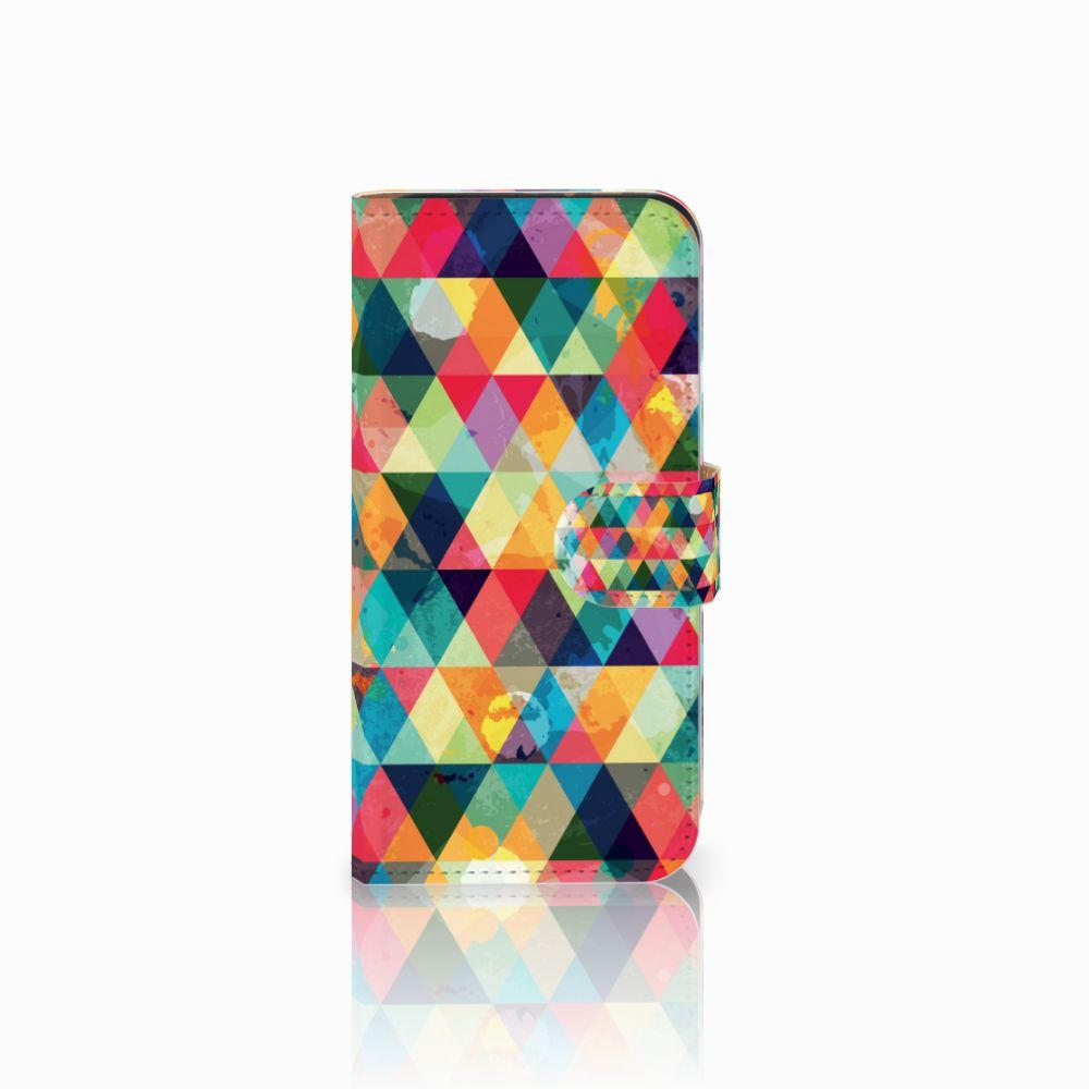 HTC One Mini 2 Uniek Boekhoesje Geruit