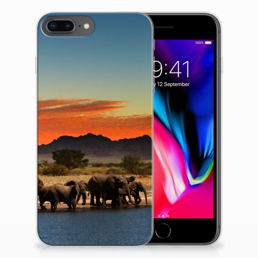 Apple iPhone 7 Plus | 8 Plus TPU Hoesje Olifanten
