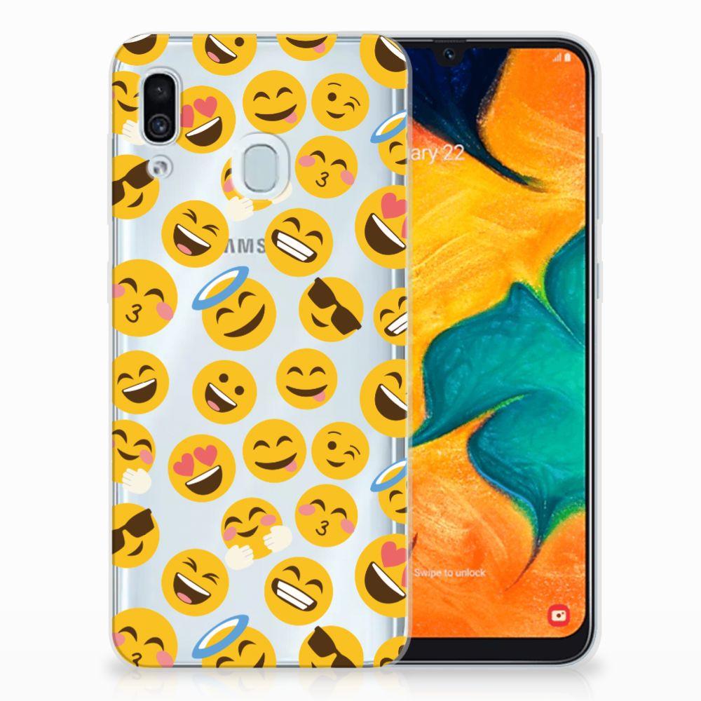 Samsung Galaxy A30 TPU bumper Emoji