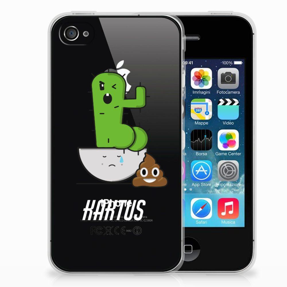 Apple iPhone 4   4s Telefoonhoesje met Naam Cactus Poo