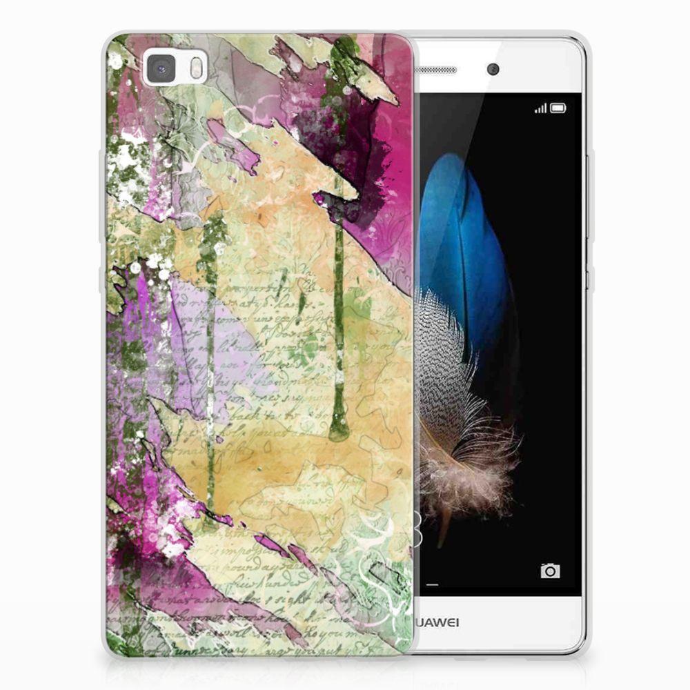 Huawei Ascend P8 Lite Uniek TPU Hoesje Letter Painting