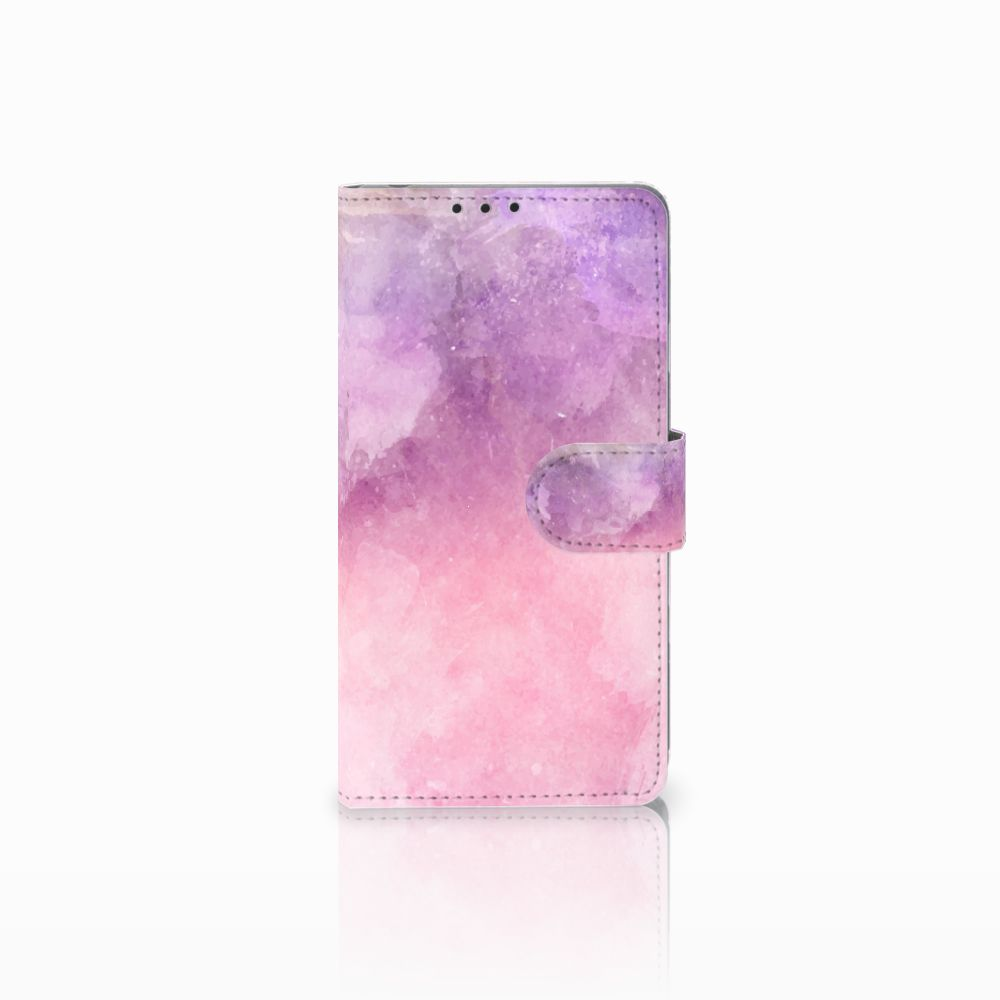 Sony Xperia Z1 Boekhoesje Design Pink Purple Paint