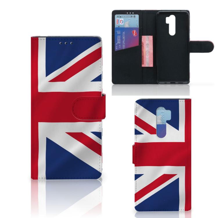 Xiaomi Note 8 Pro Bookstyle Case Groot-Brittannië