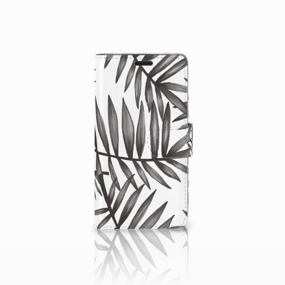 LG G3 Uniek Boekhoesje Leaves Grey