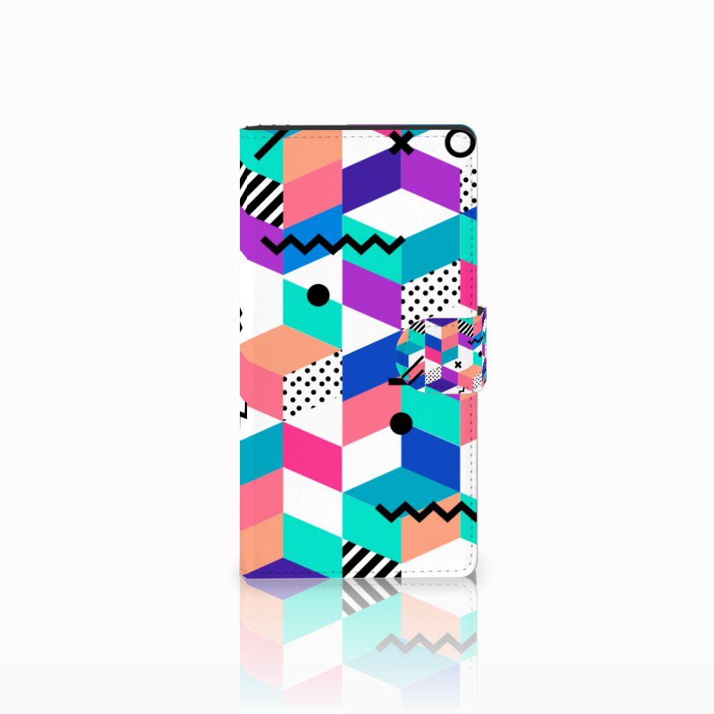 Sony Xperia C4 Bookcase Blokken Kleurrijk