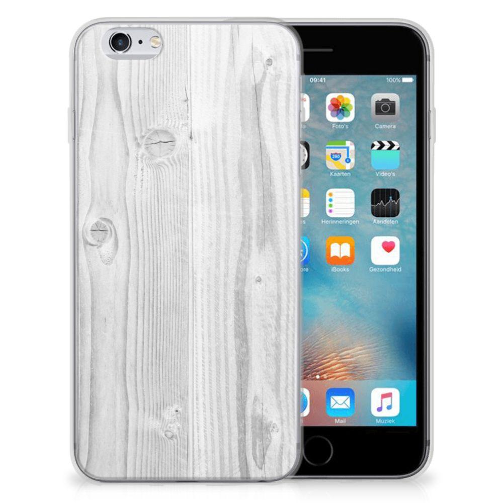 Apple iPhone 6 | 6s Bumper Hoesje White Wood