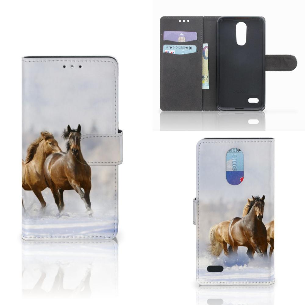 LG K10 (2017) Telefoonhoesje met Pasjes Paarden