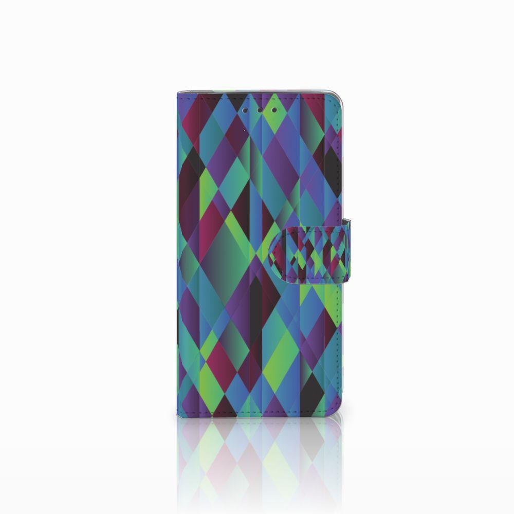 Motorola Moto X4 Bookcase Abstract Green Blue