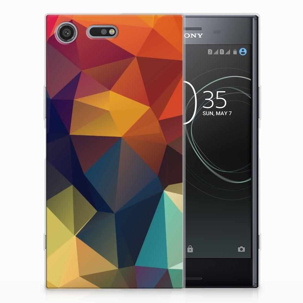 Sony Xperia XZ Premium TPU Hoesje Polygon Color